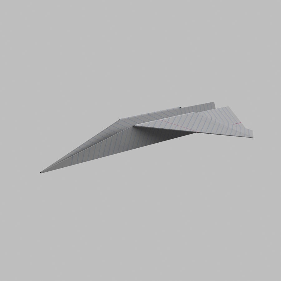 avião de papel royalty-free 3d model - Preview no. 1