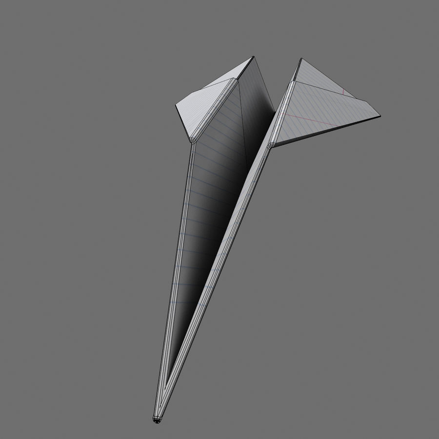 avião de papel royalty-free 3d model - Preview no. 4