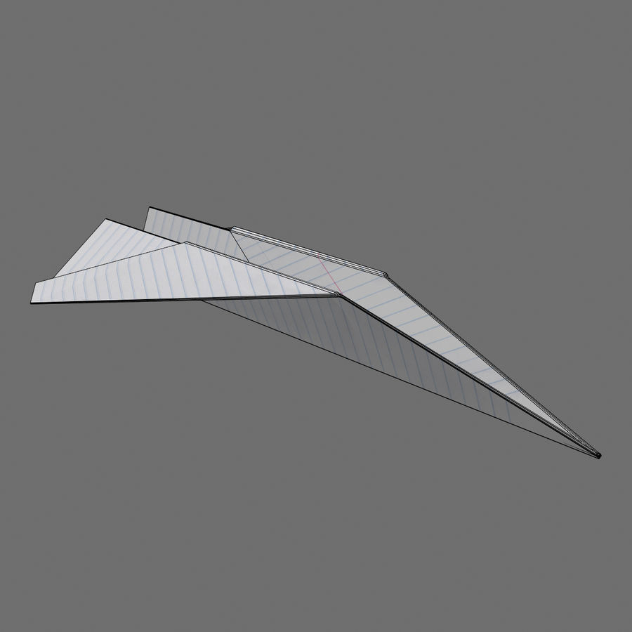 avião de papel royalty-free 3d model - Preview no. 5