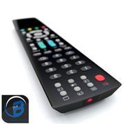 텔레비전 리모컨 3d model