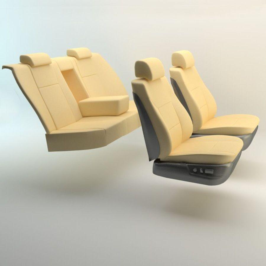 car seats royalty-free 3d model - Preview no. 3