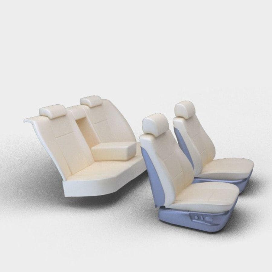 car seats royalty-free 3d model - Preview no. 1