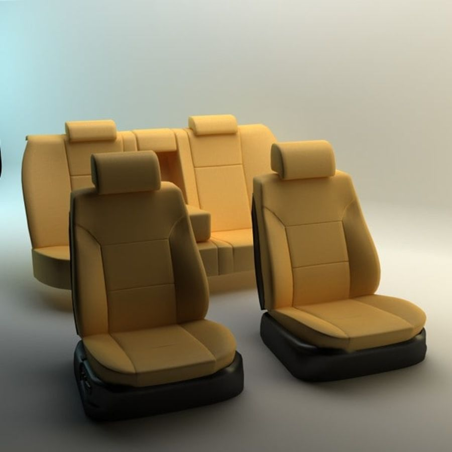 car seats royalty-free 3d model - Preview no. 2
