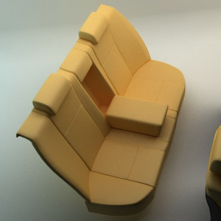 car seats royalty-free 3d model - Preview no. 6
