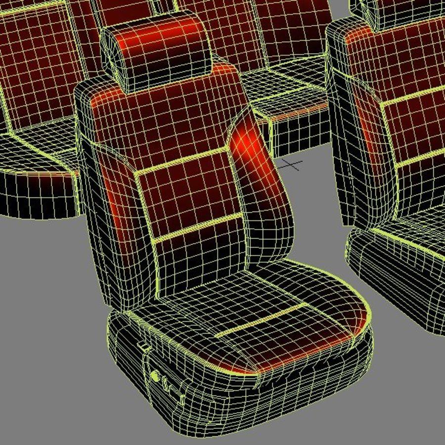 car seats royalty-free 3d model - Preview no. 9