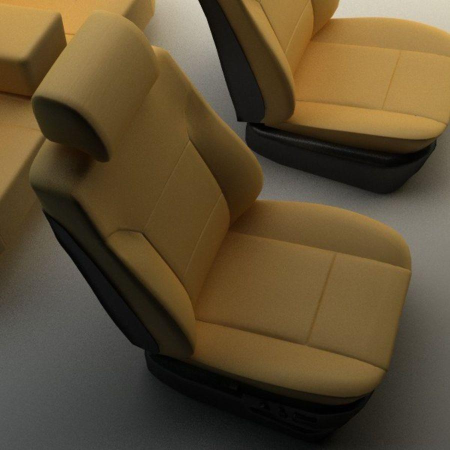 car seats royalty-free 3d model - Preview no. 7