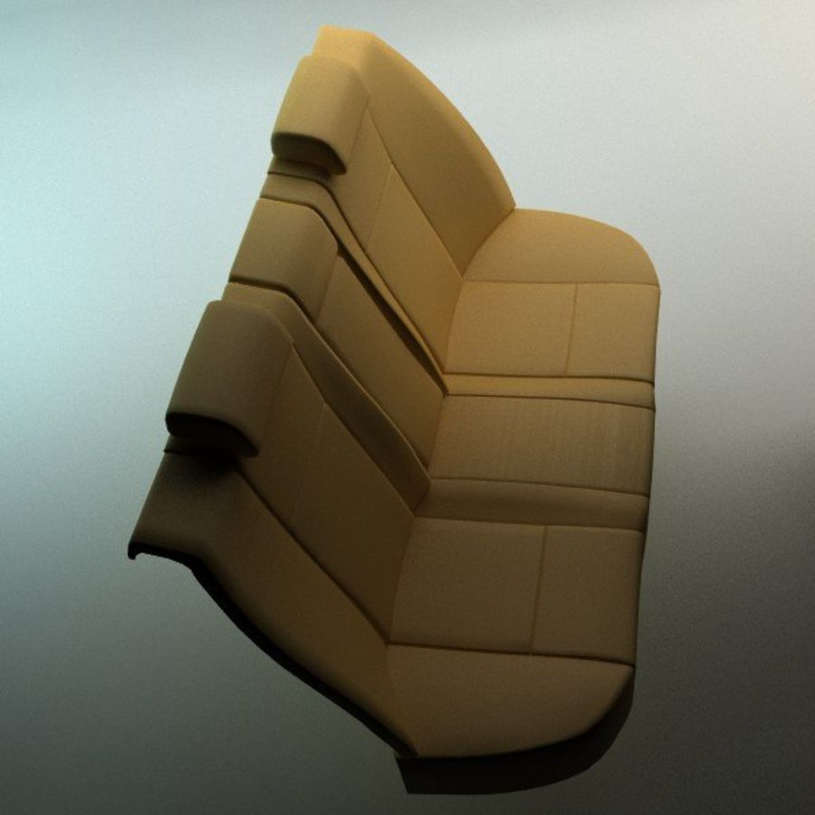 car seats royalty-free 3d model - Preview no. 8