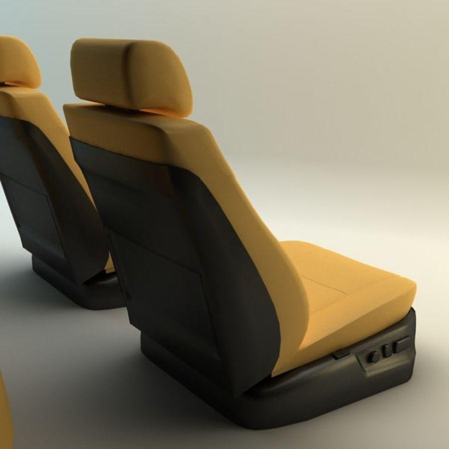 car seats royalty-free 3d model - Preview no. 4