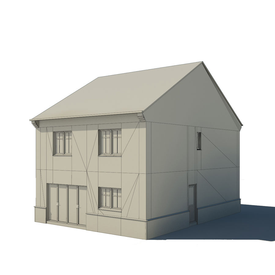 Hus royalty-free 3d model - Preview no. 4