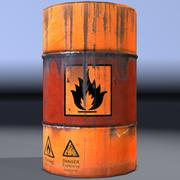 Barrel, explosive, flammable, old. Game ready! 3d model