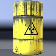 桶,放射性废物,陈旧。游戏准备好了! 3d model