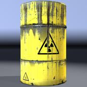 Barrel, radioactive waste, old. Game ready! 3d model