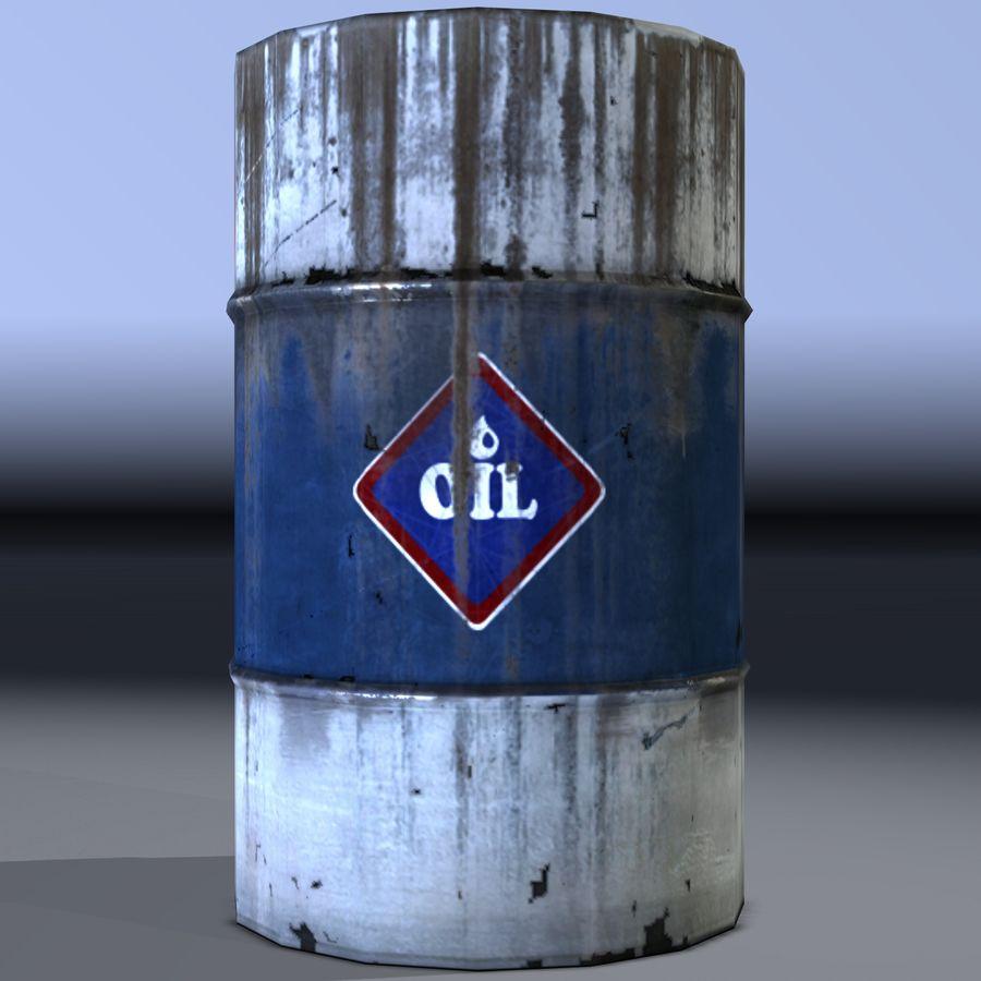 Olievat, olievat, oud. Spel klaar! royalty-free 3d model - Preview no. 2