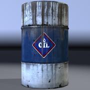 Olievat, olievat, oud. Spel klaar! 3d model