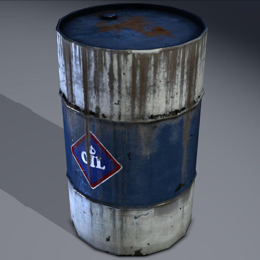 Olievat, olievat, oud. Spel klaar! royalty-free 3d model - Preview no. 5