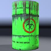 Barile di rifiuti tossici, pericoloso. Gioco pronto! 3d model