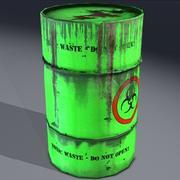 Giftigt avfallshållare, farligt. Spel redo! 3d model