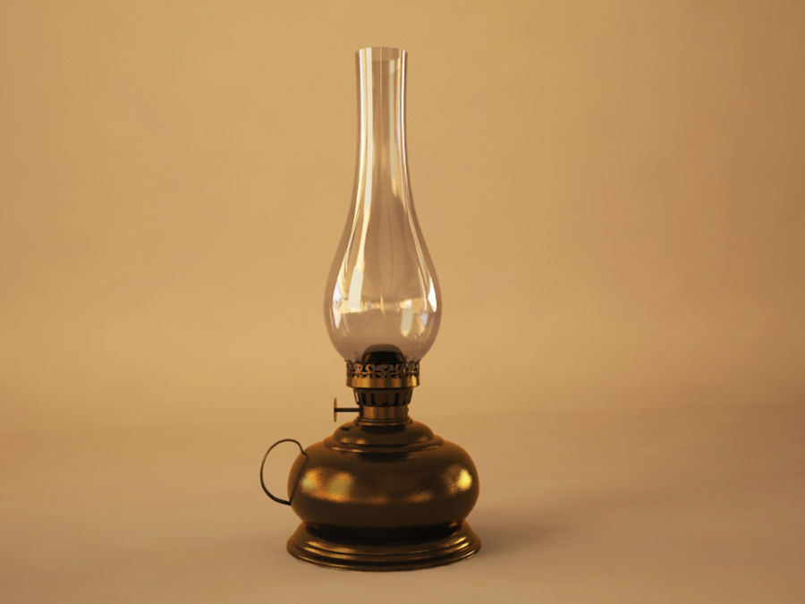 Oil Lamp royalty-free 3d model - Preview no. 3