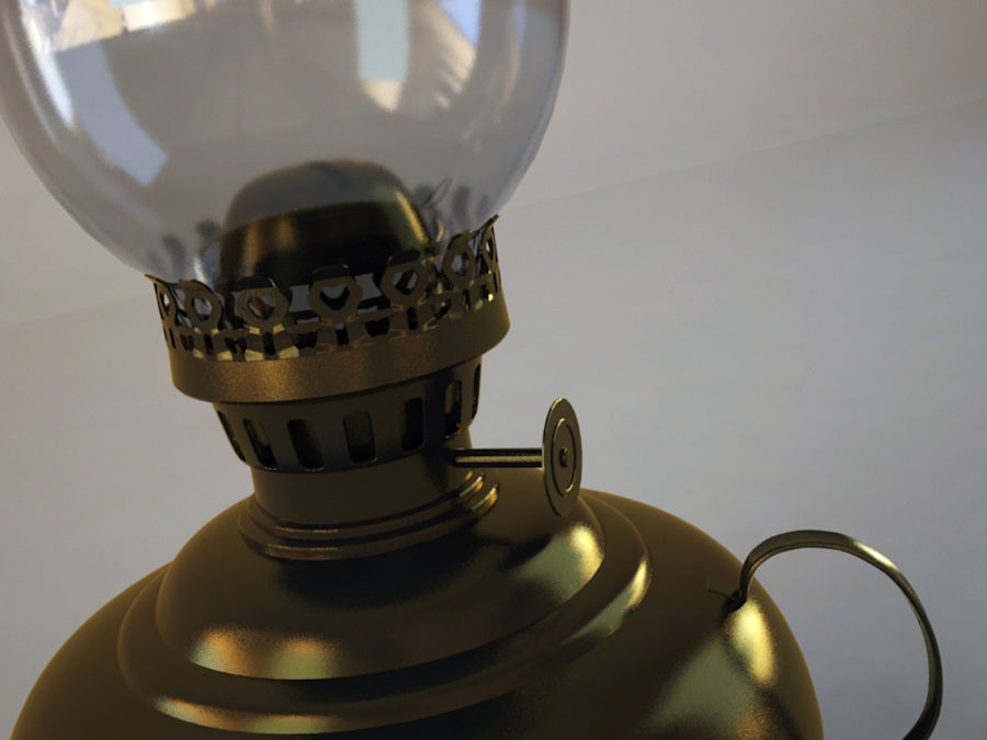 Oil Lamp royalty-free 3d model - Preview no. 2