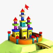 Cartoon Castle (2) 3d model
