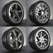 Rueda completa: neumático + freno + llanta modelo 3d