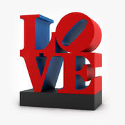 Love sculpture 3d model