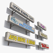 Handla skyltar 3d model