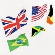 Bandeiras 3d model