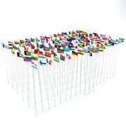 Landen vlaggen (111) 3d model