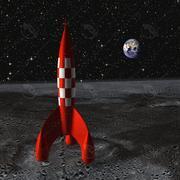 Rocket Tintin partes animadas modelo 3d
