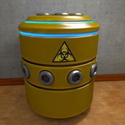 集装箱桶科幻 3d model