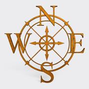 Wind Rose Symbol 3d model