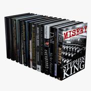 Svarta böcker 3d model