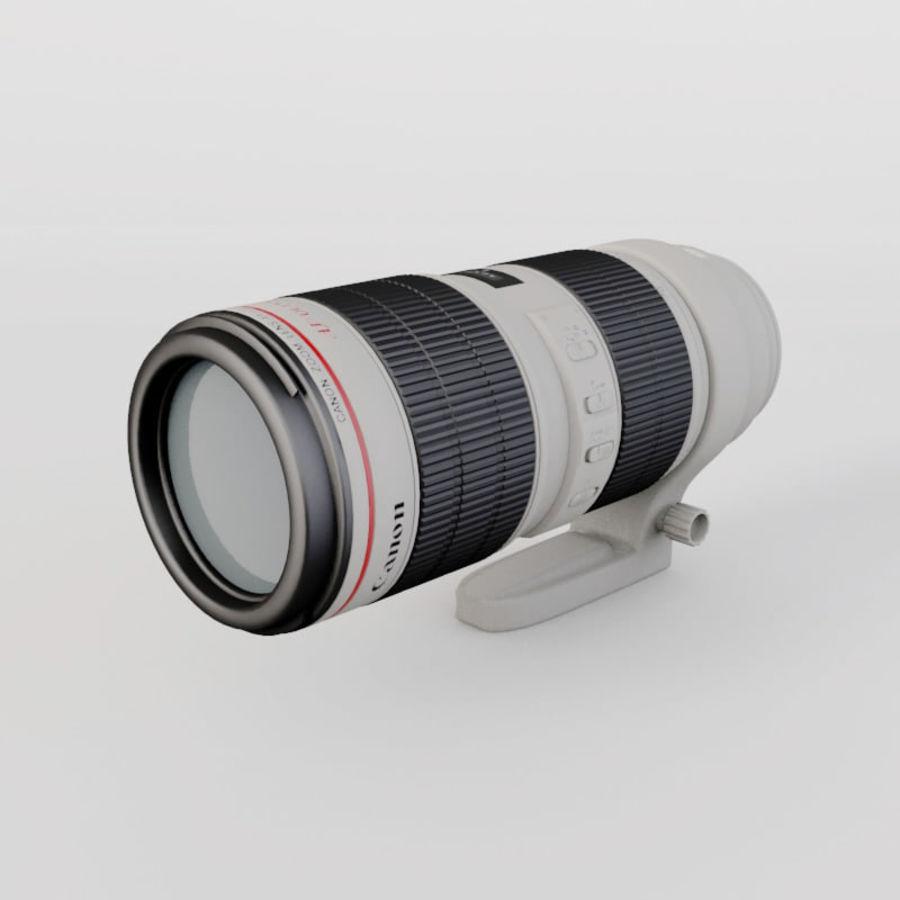 佳能长焦镜头70-200 royalty-free 3d model - Preview no. 2