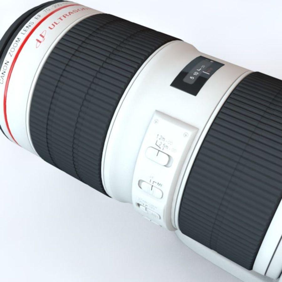 佳能长焦镜头70-200 royalty-free 3d model - Preview no. 4