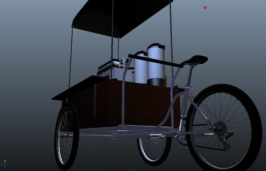 Cafe Cart royalty-free 3d model - Preview no. 7