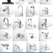 Collection de 20 robinets 3d model