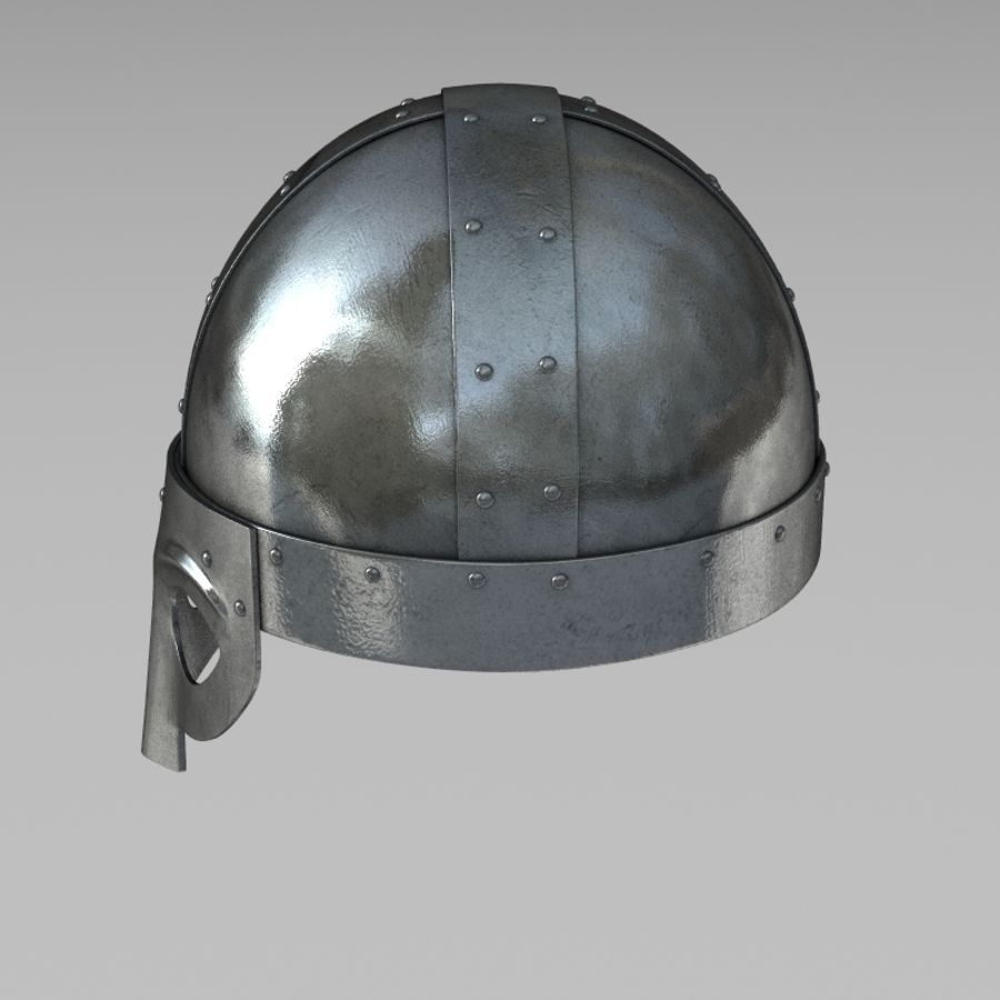 Viking Helmet royalty-free 3d model - Preview no. 5