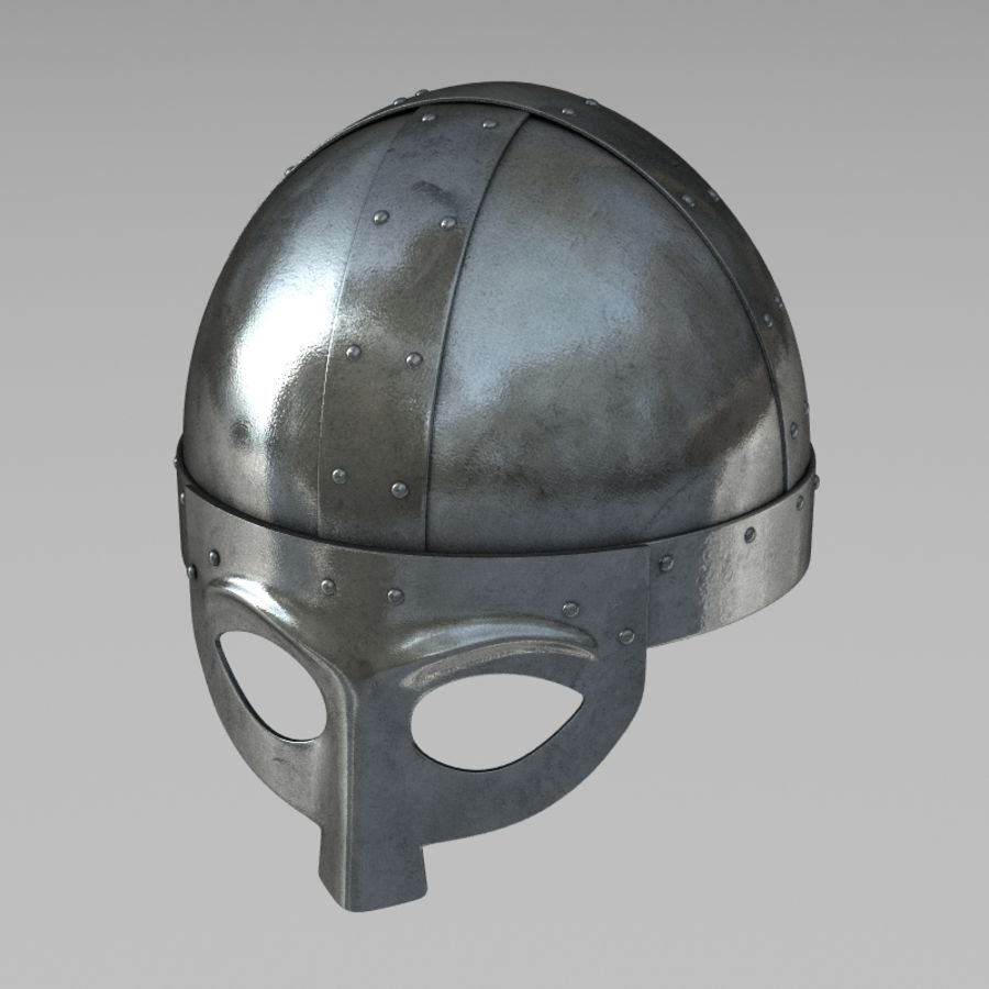 Viking Helmet royalty-free 3d model - Preview no. 1