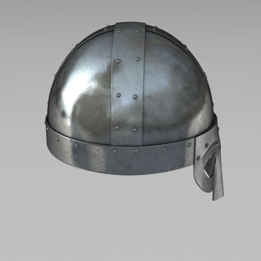 Viking Helmet royalty-free 3d model - Preview no. 4