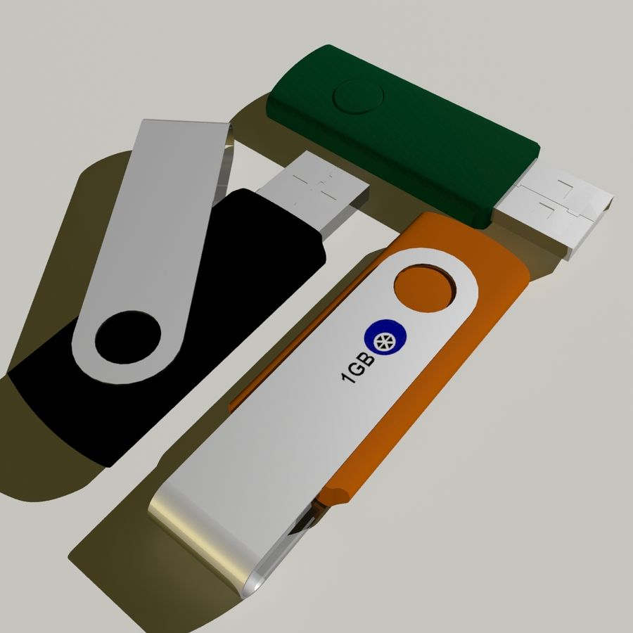 Flash Drive royalty-free 3d model - Preview no. 7