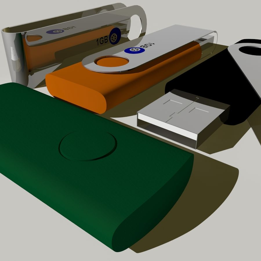 Flash Drive royalty-free 3d model - Preview no. 10