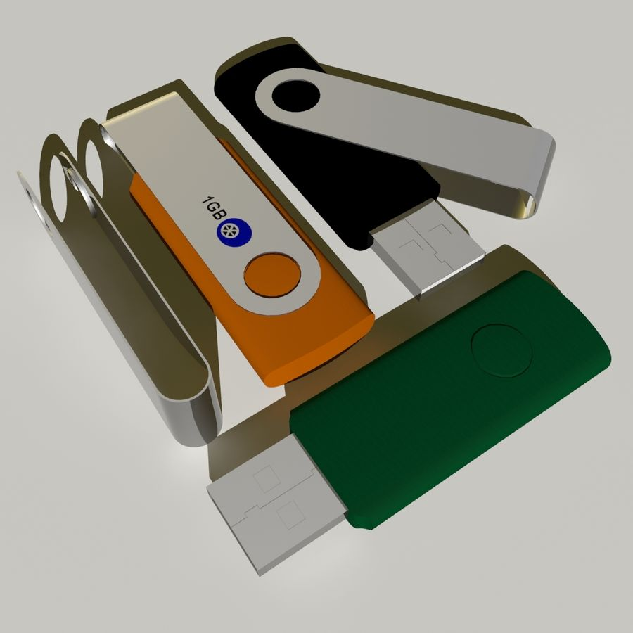 Flash Drive royalty-free 3d model - Preview no. 8