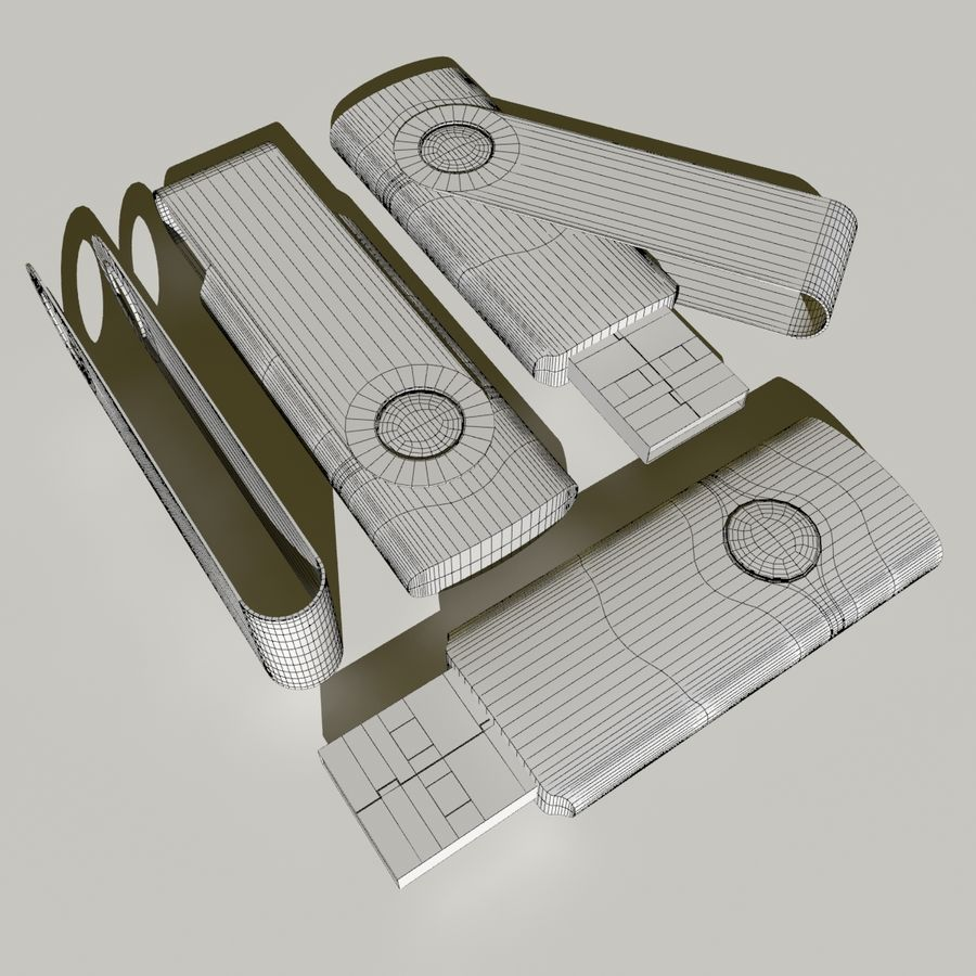 Flash Drive royalty-free 3d model - Preview no. 9