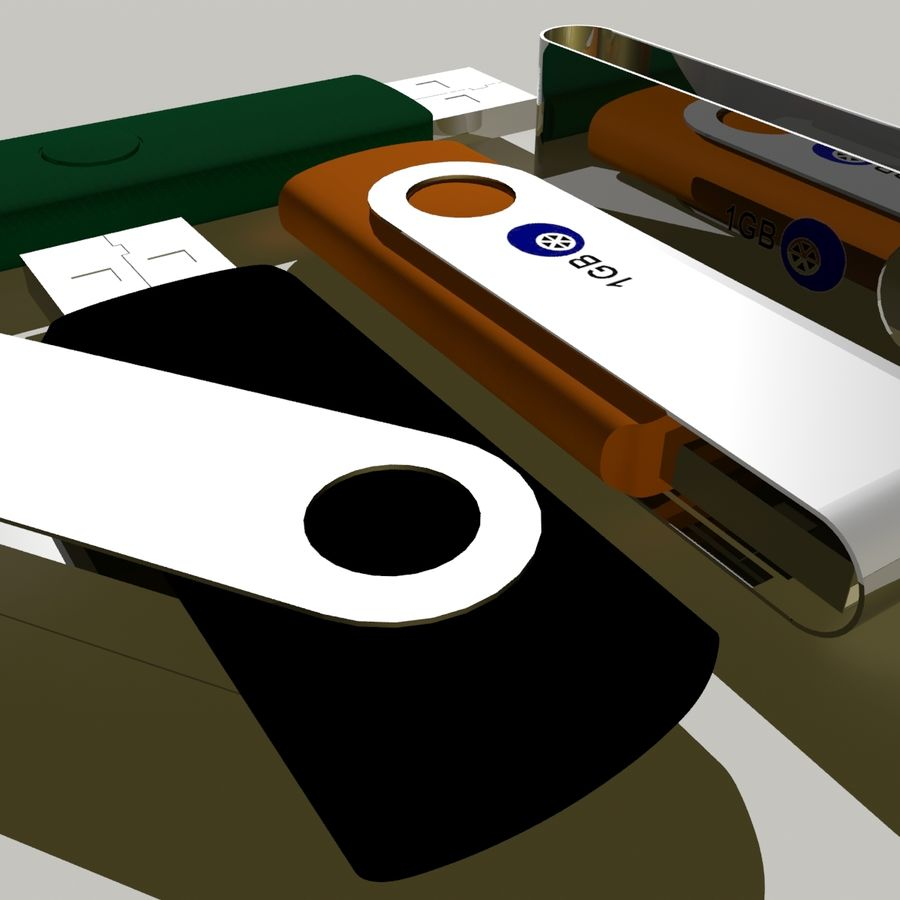 Flash Drive royalty-free 3d model - Preview no. 12