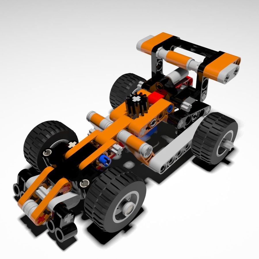 Voiture LEGO Technic royalty-free 3d model - Preview no. 1