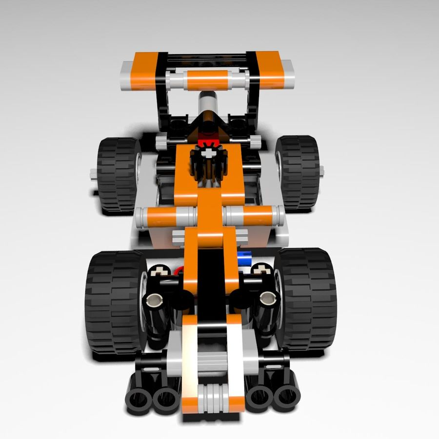 Voiture LEGO Technic royalty-free 3d model - Preview no. 2