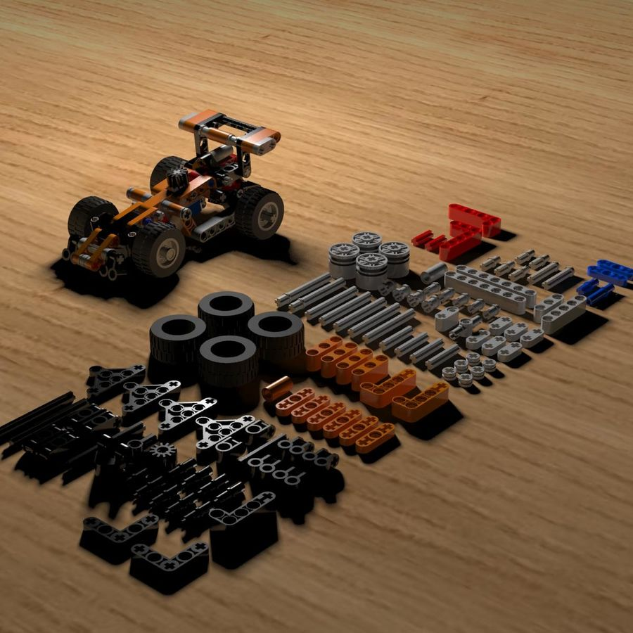 Voiture LEGO Technic royalty-free 3d model - Preview no. 5