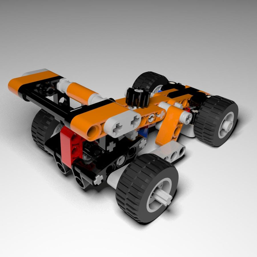 Voiture LEGO Technic royalty-free 3d model - Preview no. 4