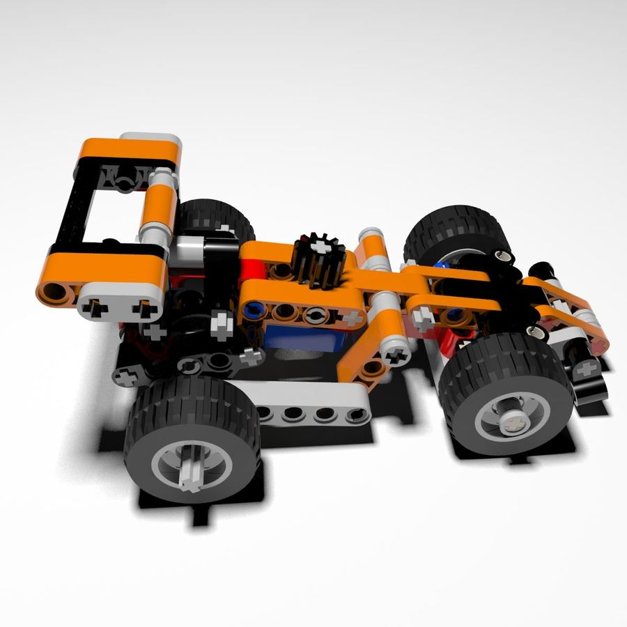 Voiture LEGO Technic royalty-free 3d model - Preview no. 3